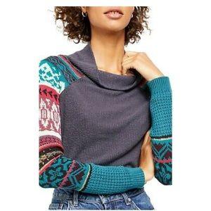 NWT Free People Prism Thermal Turtleneck Sweater
